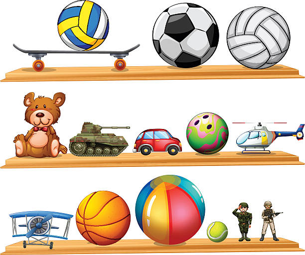 Toy Ball Clip Art : Toys clip art vector images illustrations istock