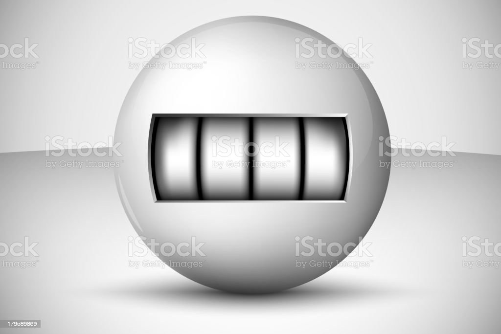 Ball with numbers royalty-free stock vector art