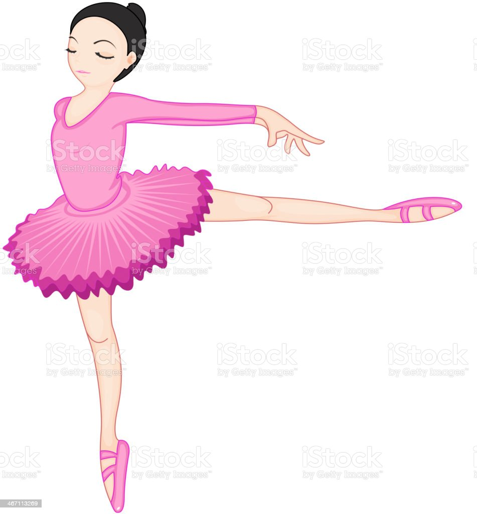 Ballerina pose on white royalty-free stock vector art