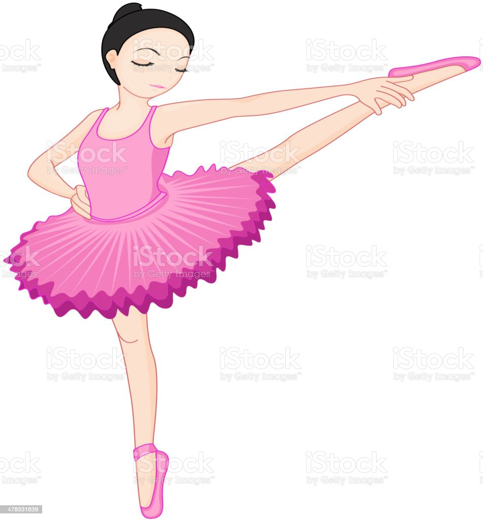 Ballerina pose on white royalty-free stock vector art