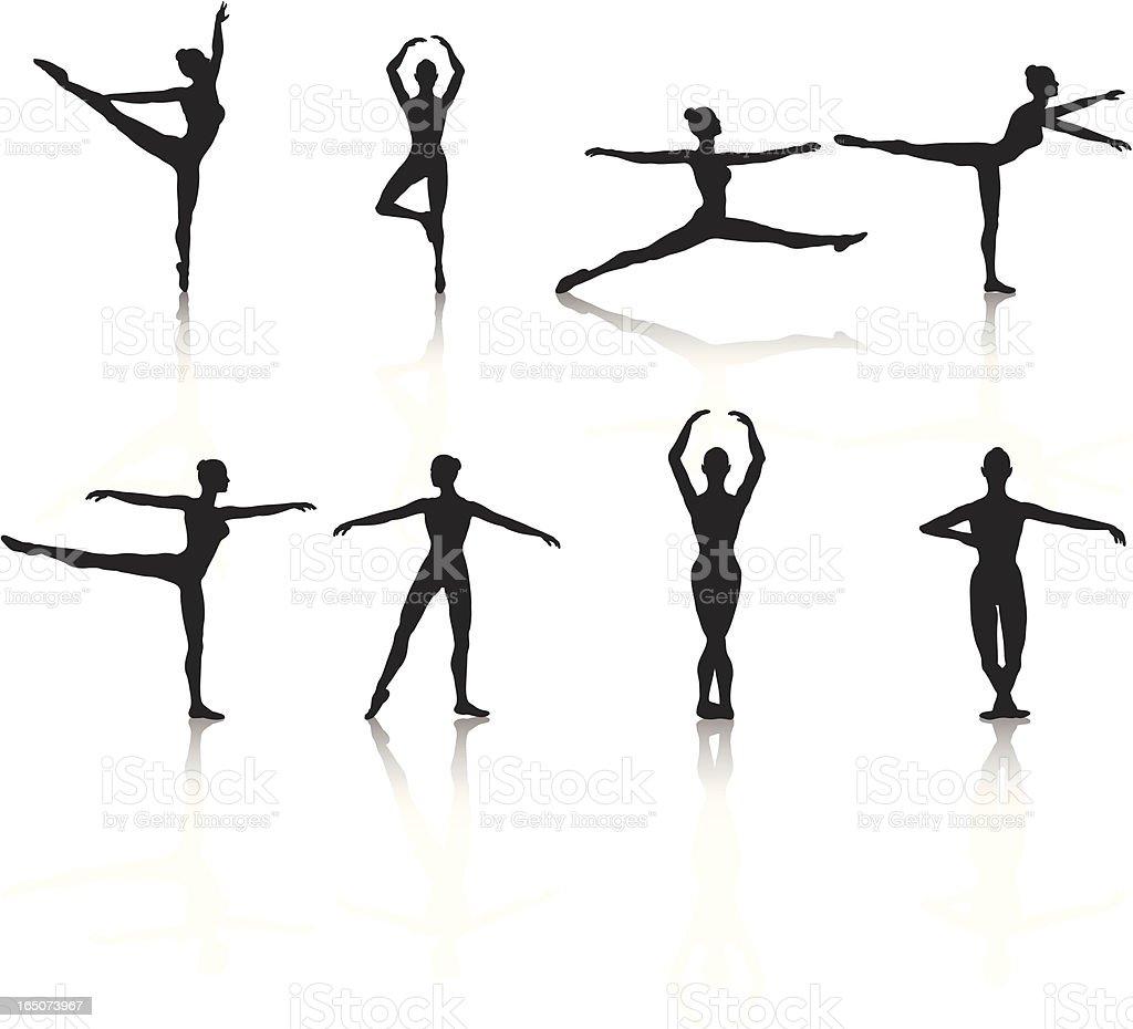 Ballerina Silhouette Collection royalty-free stock vector art