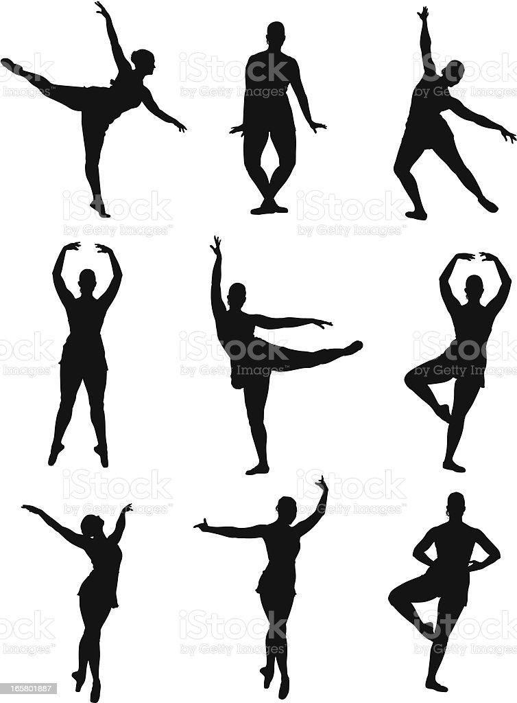 Ballerina royalty-free stock vector art