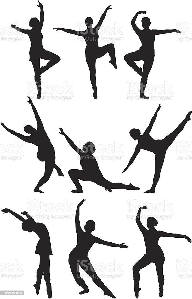 Ballerina vector art illustration