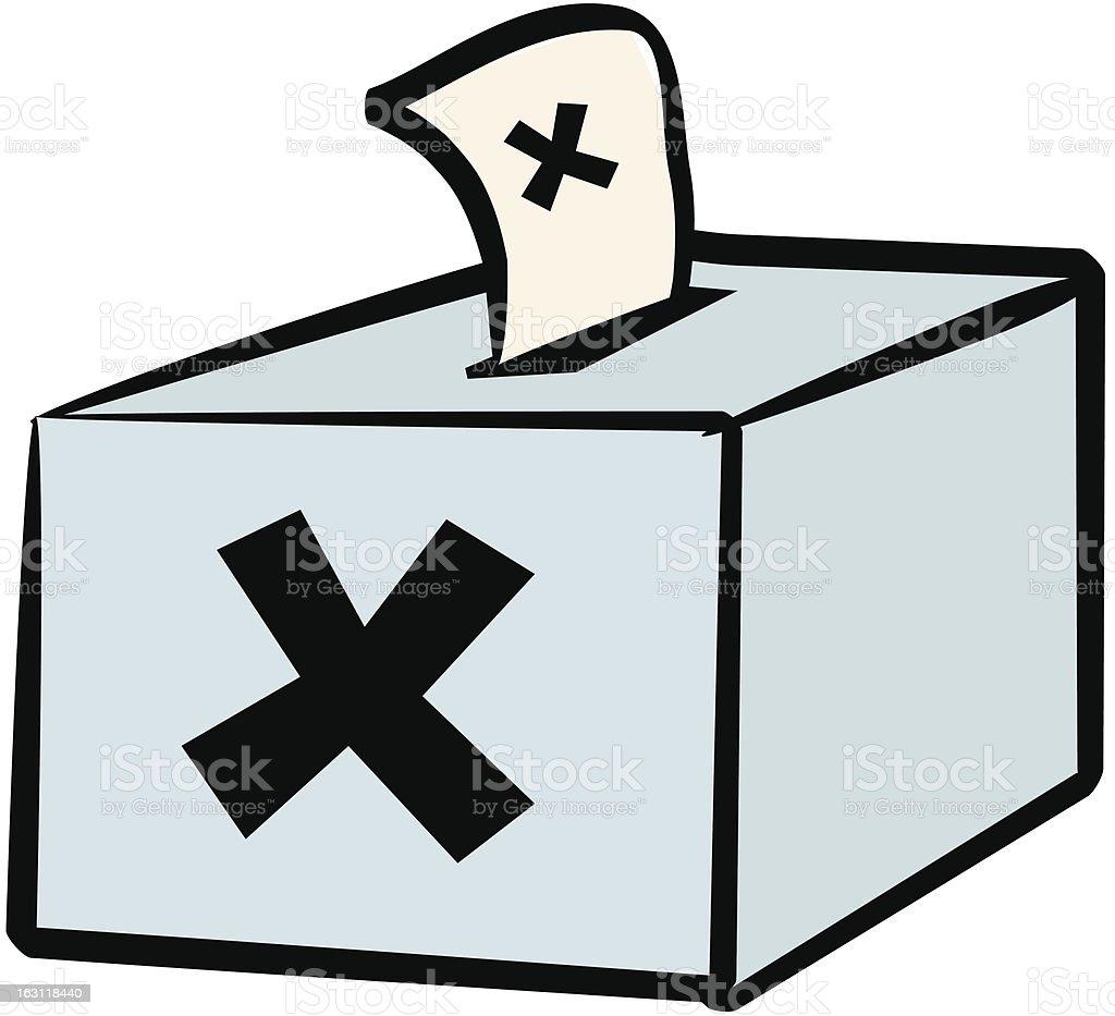 ballet box [ election ] vote royalty-free stock vector art