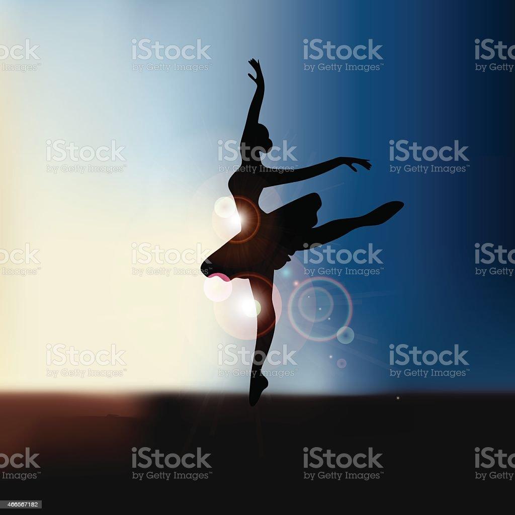 Ballet dancer background with copy space EPS10 vector vector art illustration