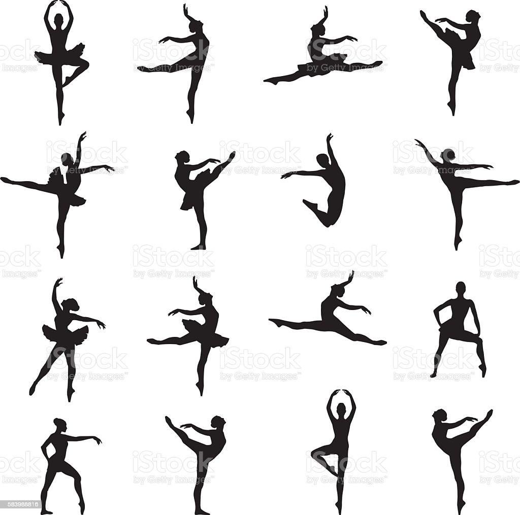 Ballet Dancer Ballerina vector art illustration