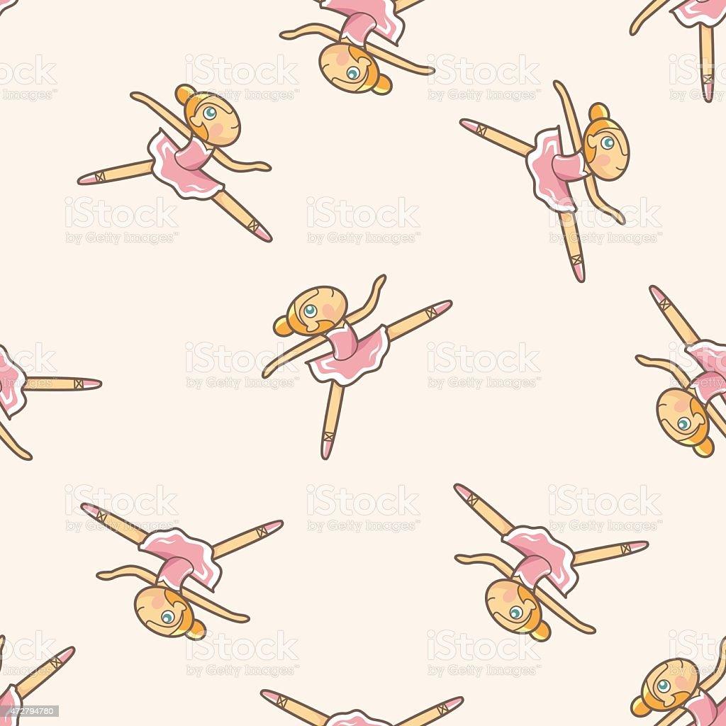 Seamless pattern of ballet dancers royalty free stock photography -  Ballet Dancer Cartoon Seamless Pattern Background
