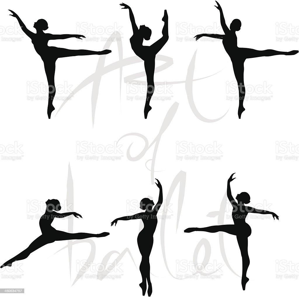 Ballet Dancer vector art illustration