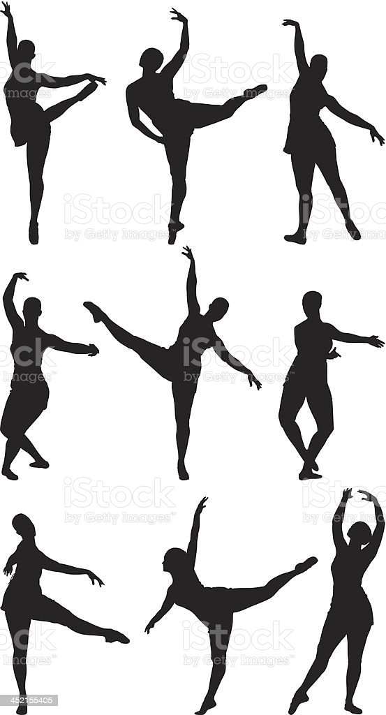 Ballet dancer royalty-free stock vector art