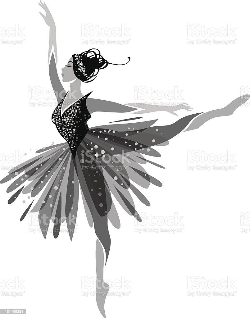 Ballet Dancer royalty-free stock vector art