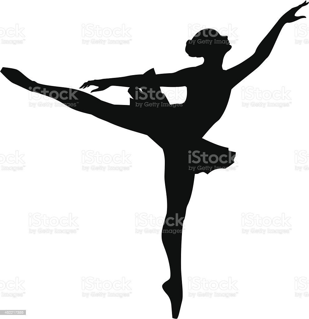 Ballet Dancer_12 royalty-free stock vector art