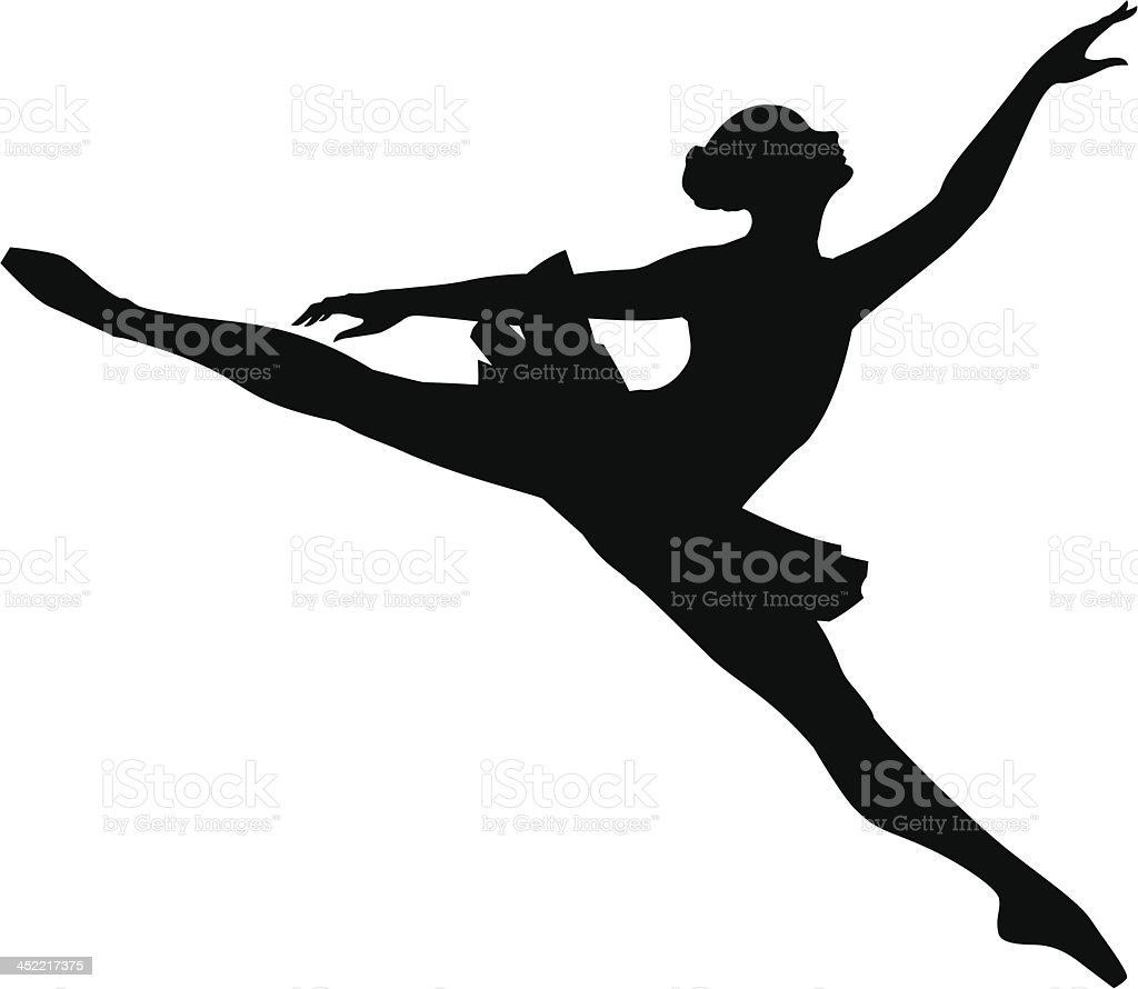 Ballet Dancer_14 royalty-free stock vector art