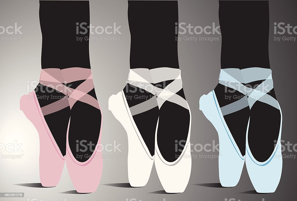 Ballet shoes, Vector illustration vector art illustration