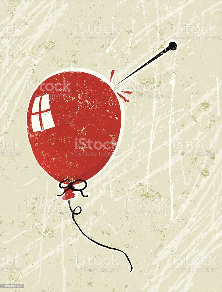 Balloon and Pin royalty-free stock vector art