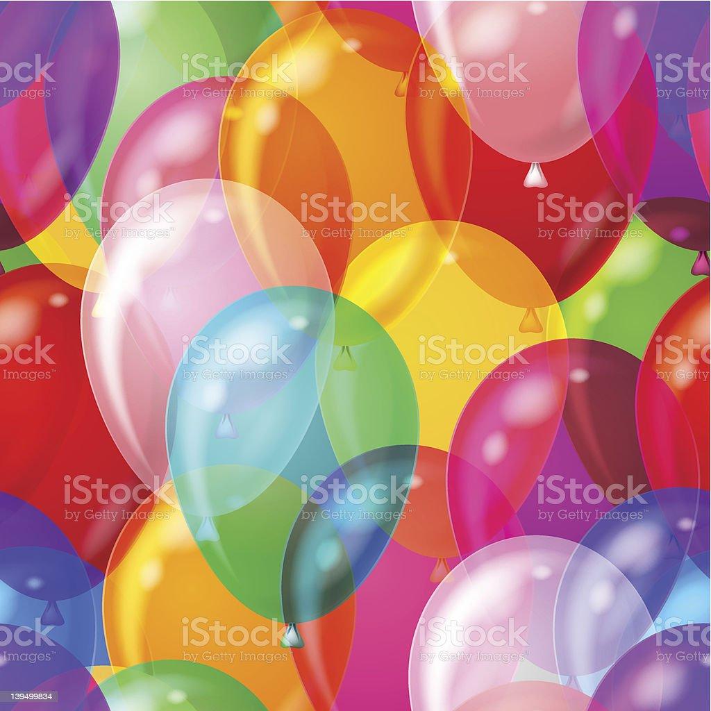 Balloon background seamless royalty-free stock vector art