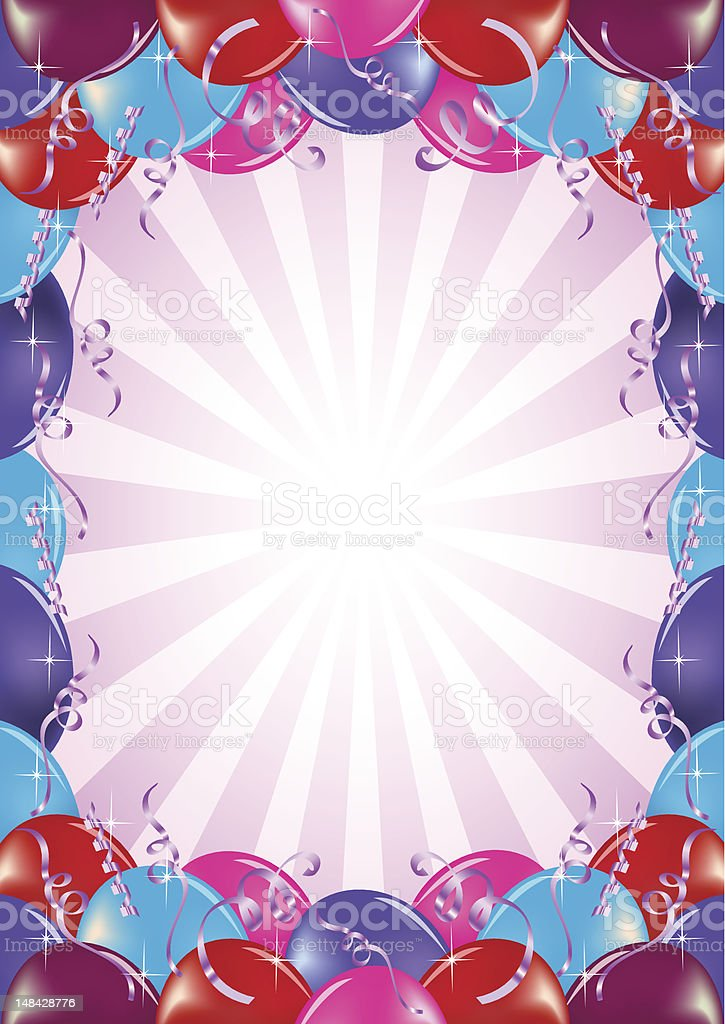 Balloon banner frame royalty-free stock vector art