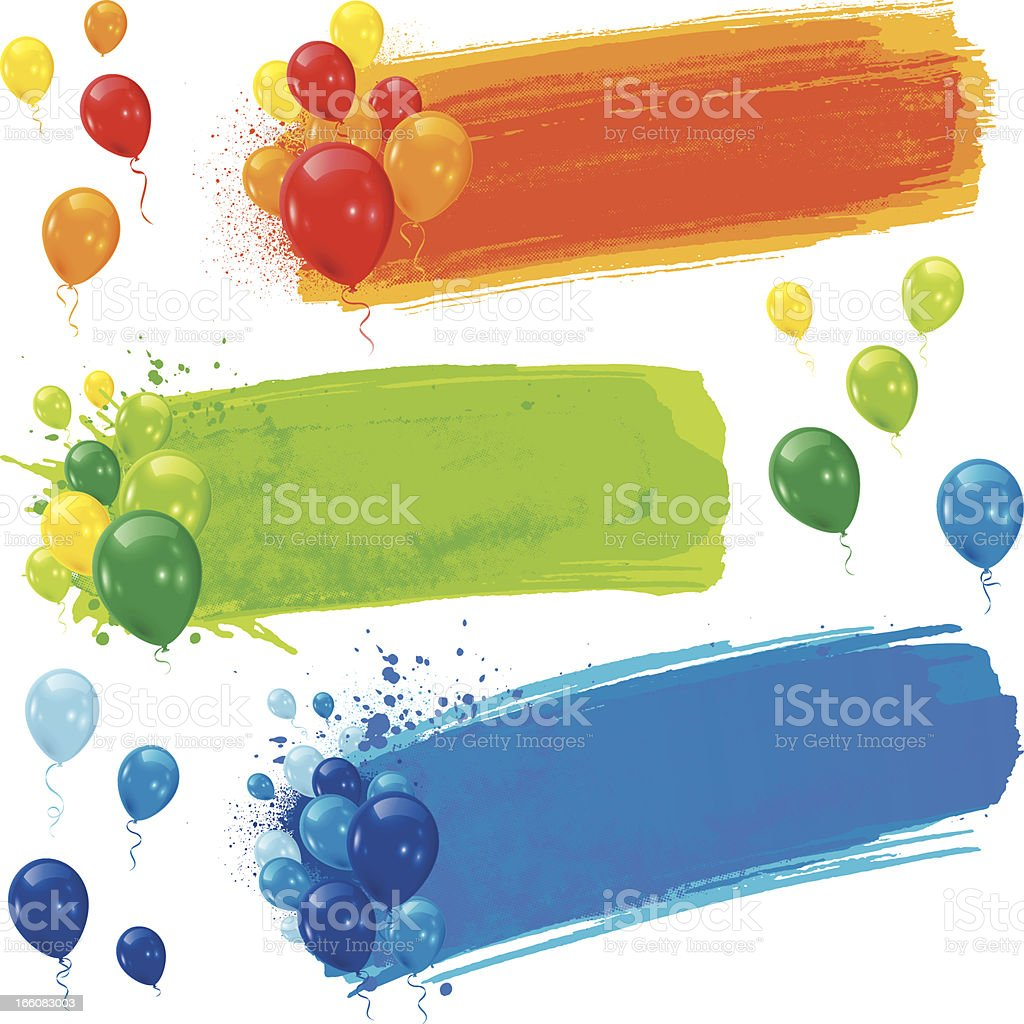 Balloon banners vector art illustration