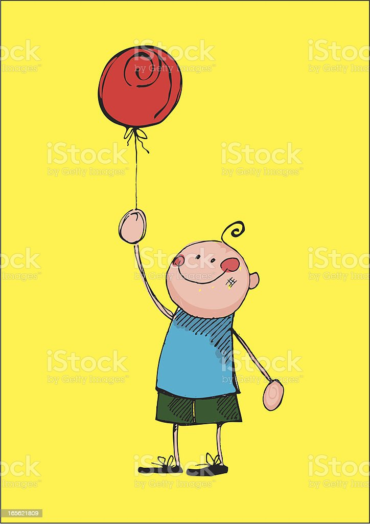 Balloon Boy royalty-free stock vector art