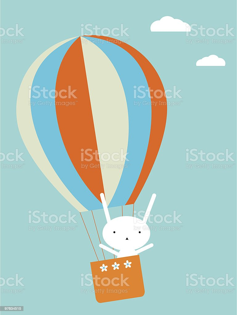 Balloon flying royalty-free stock vector art
