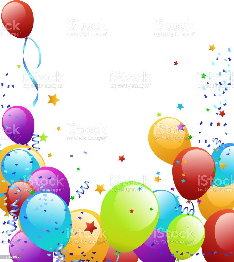Balloon Frame vector art illustration