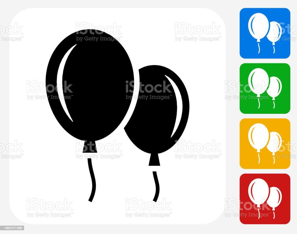 Balloon Icon Flat Graphic Design vector art illustration
