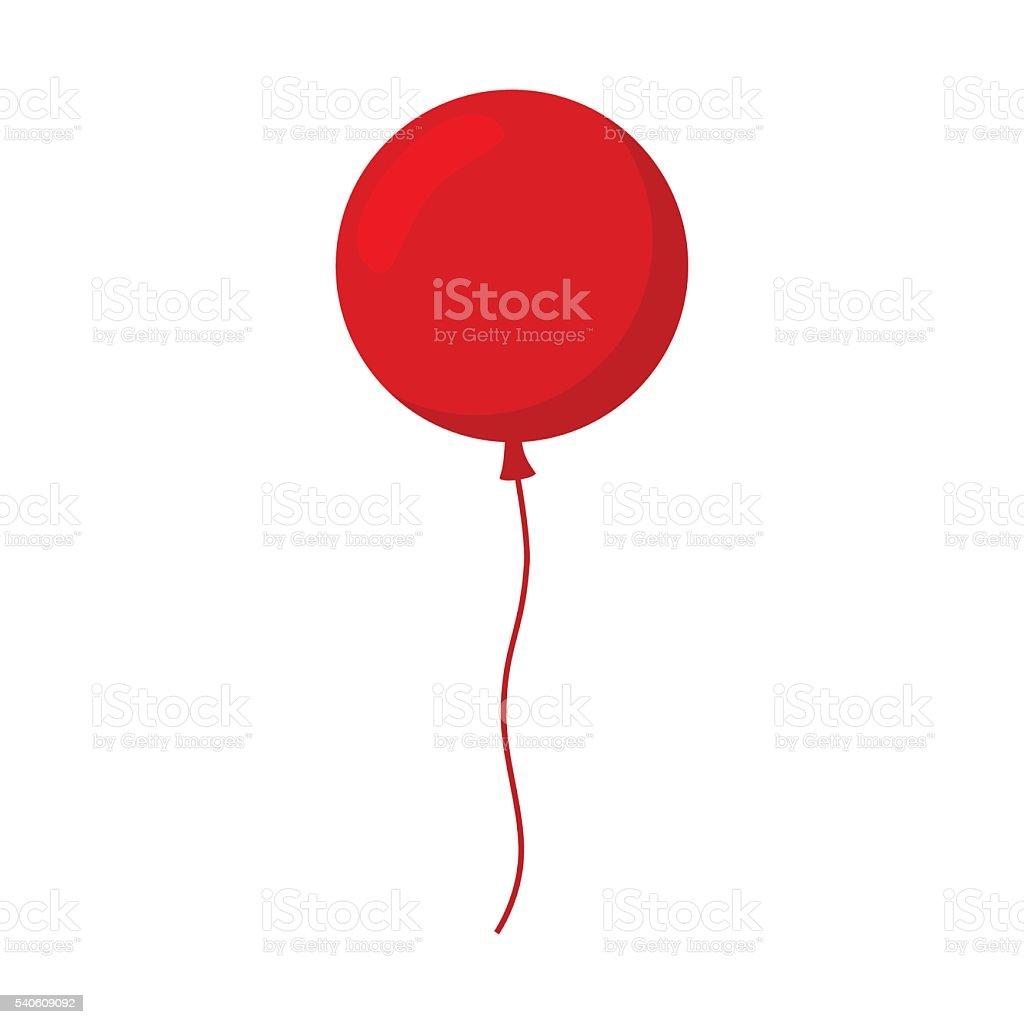 Balloon isolated icon. vector art illustration