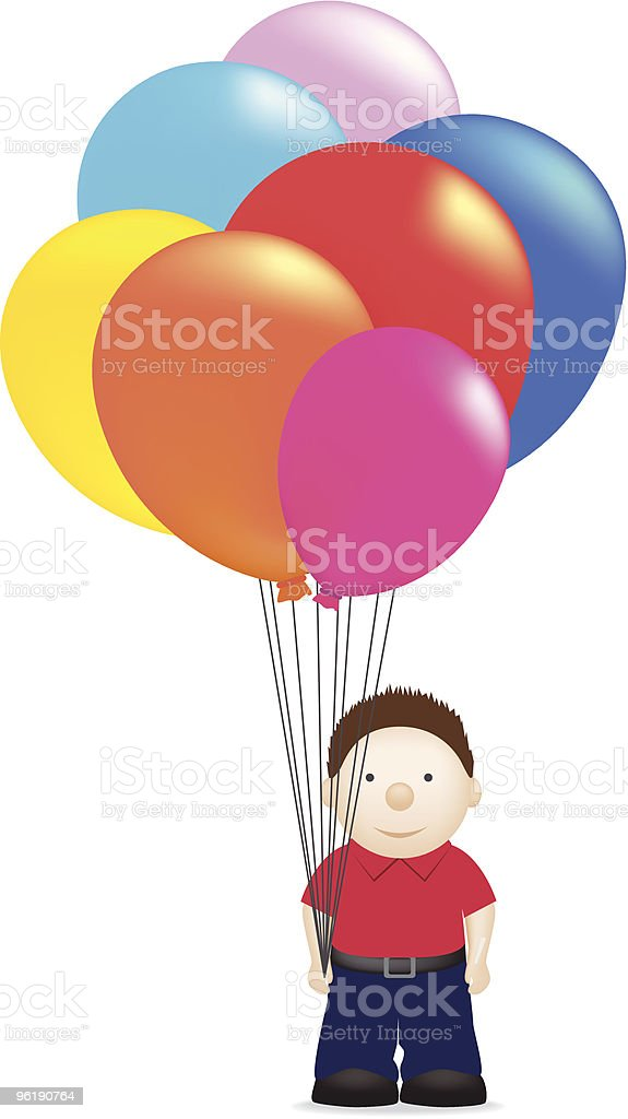 balloon Mann Lizenzfreies vektor illustration