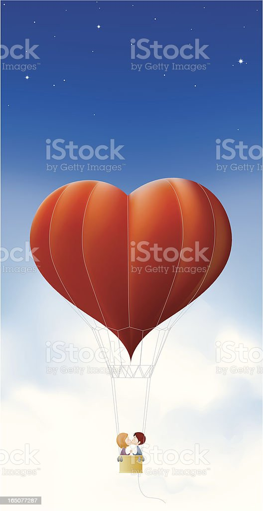 Balloon of love royalty-free stock vector art