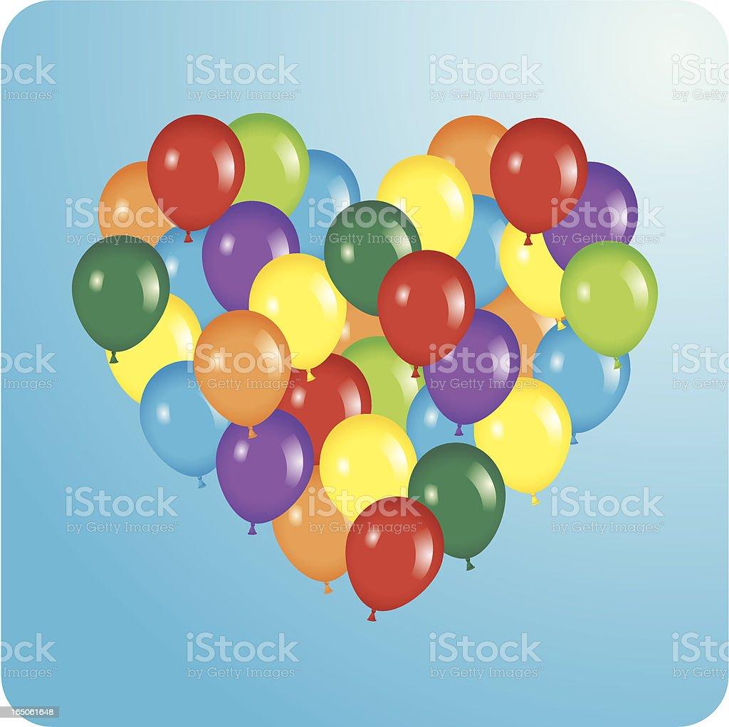 BalloonHeart royalty-free stock vector art