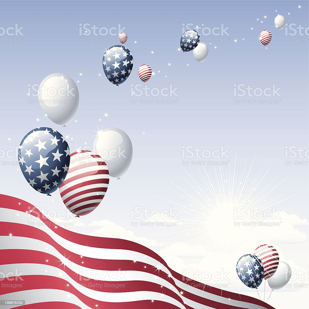 Balloons - 4th of July royalty-free stock vector art