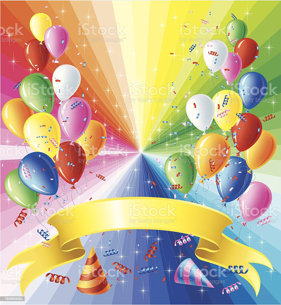 Balloons and Banner royalty-free stock vector art