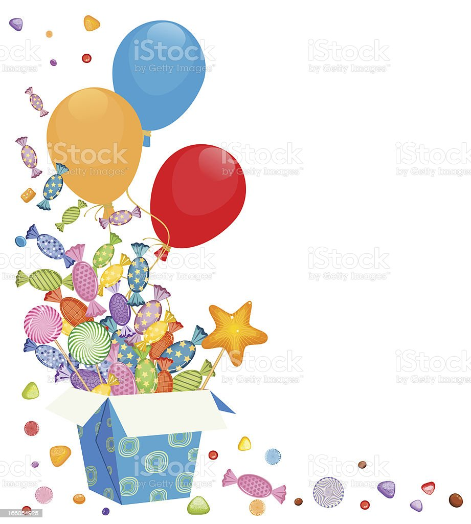 Balloons and Candies, Lollipops vector art illustration