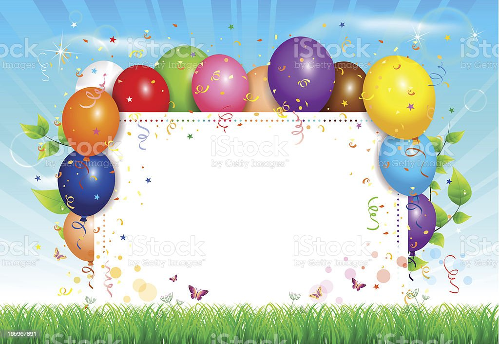 Balloons background vector art illustration