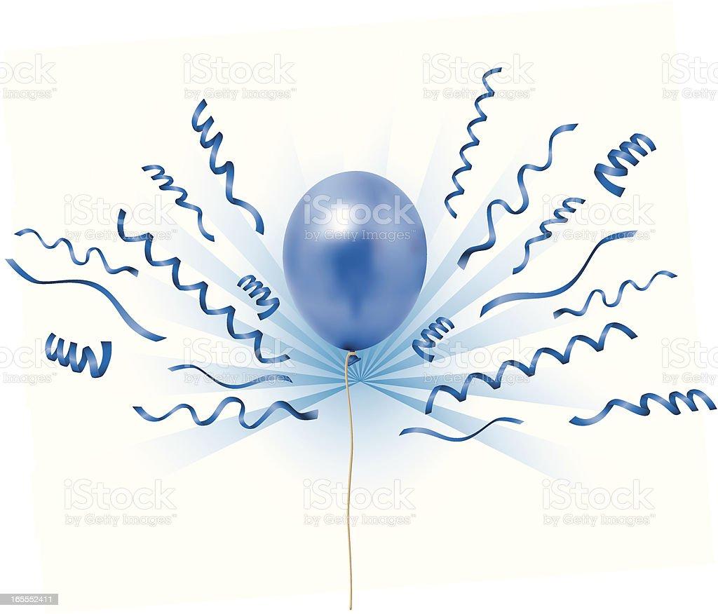 balloons blueray vector art illustration