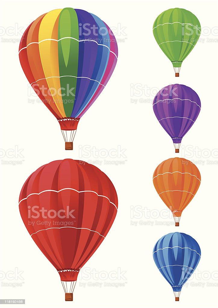 balloons collection royalty-free stock vector art