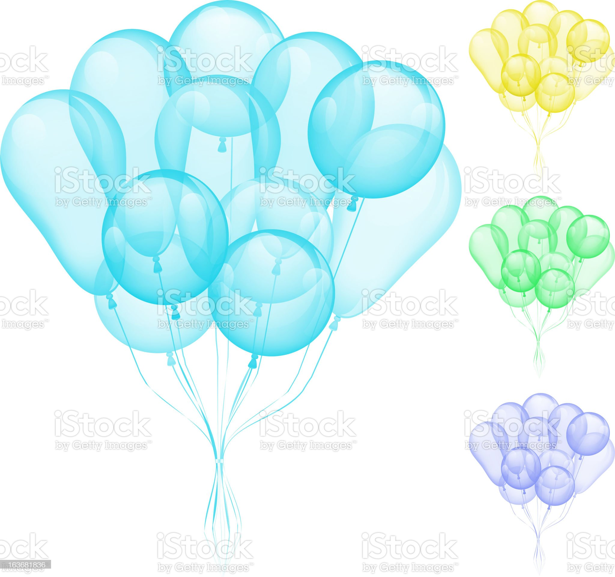 Balloons different colors royalty-free stock vector art