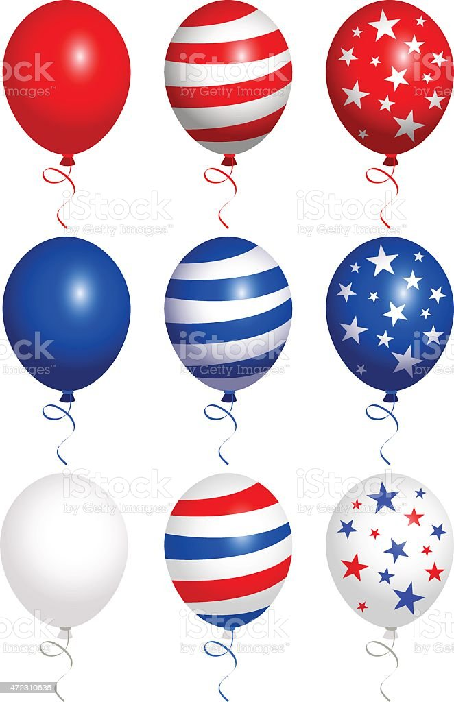 Balloons fourth of july royalty-free stock vector art