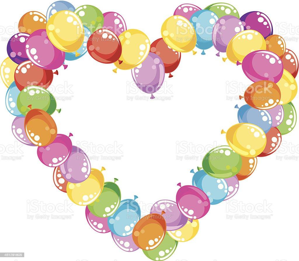 Balloons Heart royalty-free stock vector art