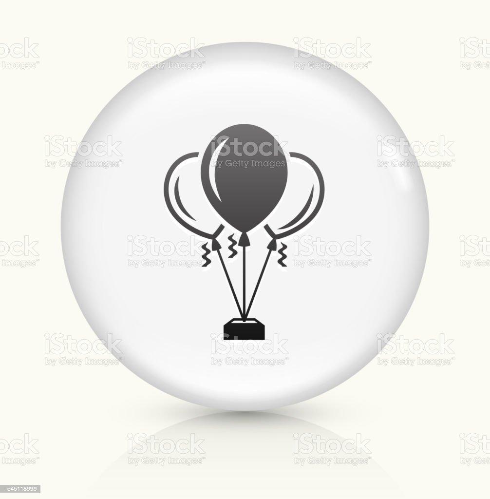 Balloons icon on white round vector button vector art illustration