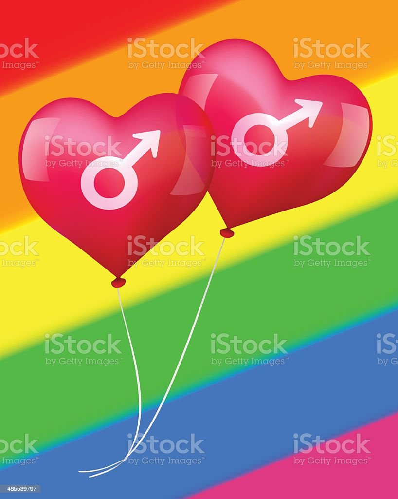 Balloons in gay love royalty-free stock vector art