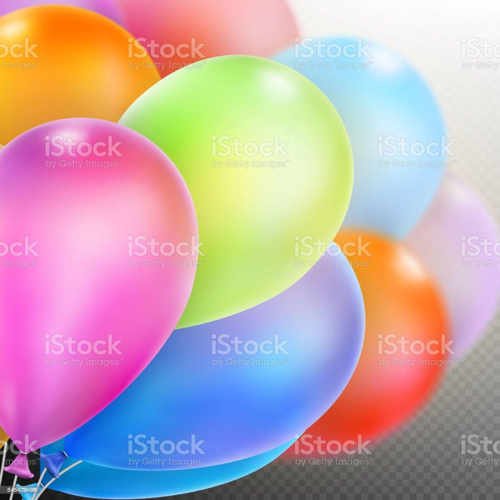 Balloons isolated. EPS 10 vector art illustration