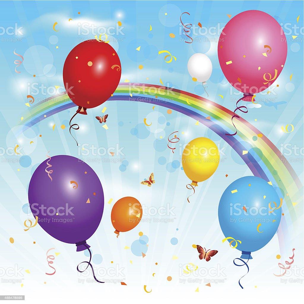 Balloons on air royalty-free stock vector art
