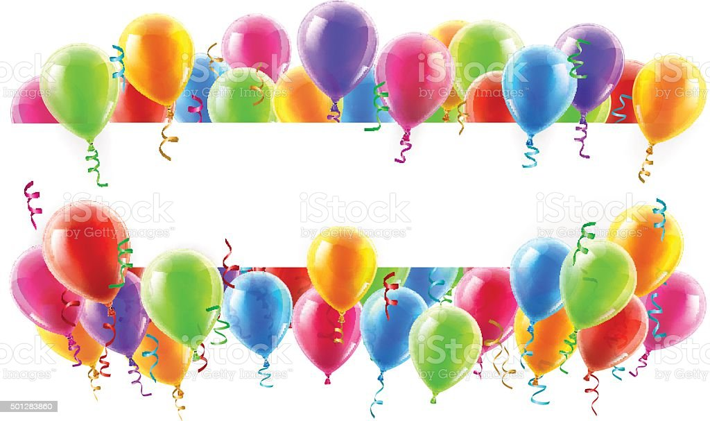 Balloons Party Banner vector art illustration