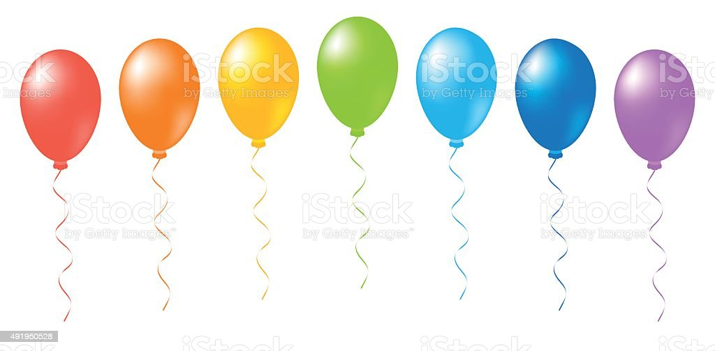 Balloons rainbow vector vector art illustration