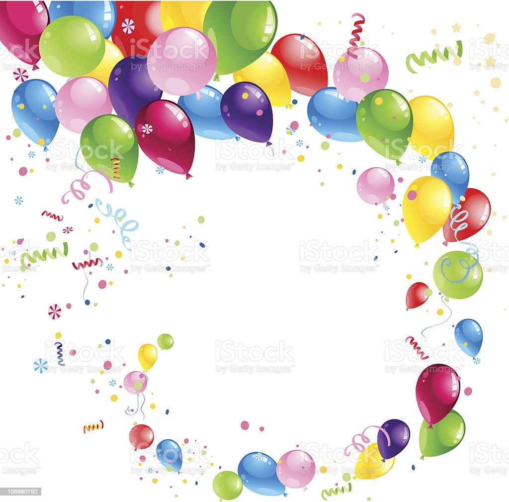 Balloons swirl royalty-free stock vector art