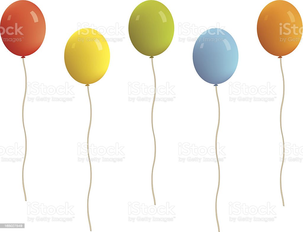 Balloons!! royalty-free stock vector art