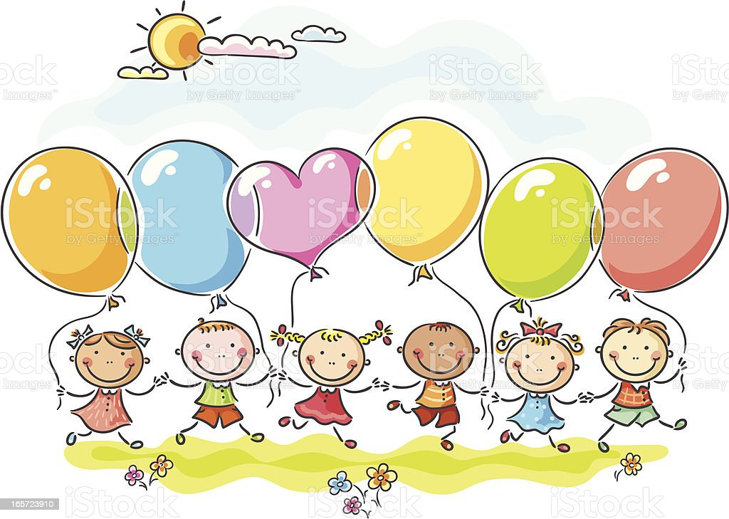Balloons vector art illustration
