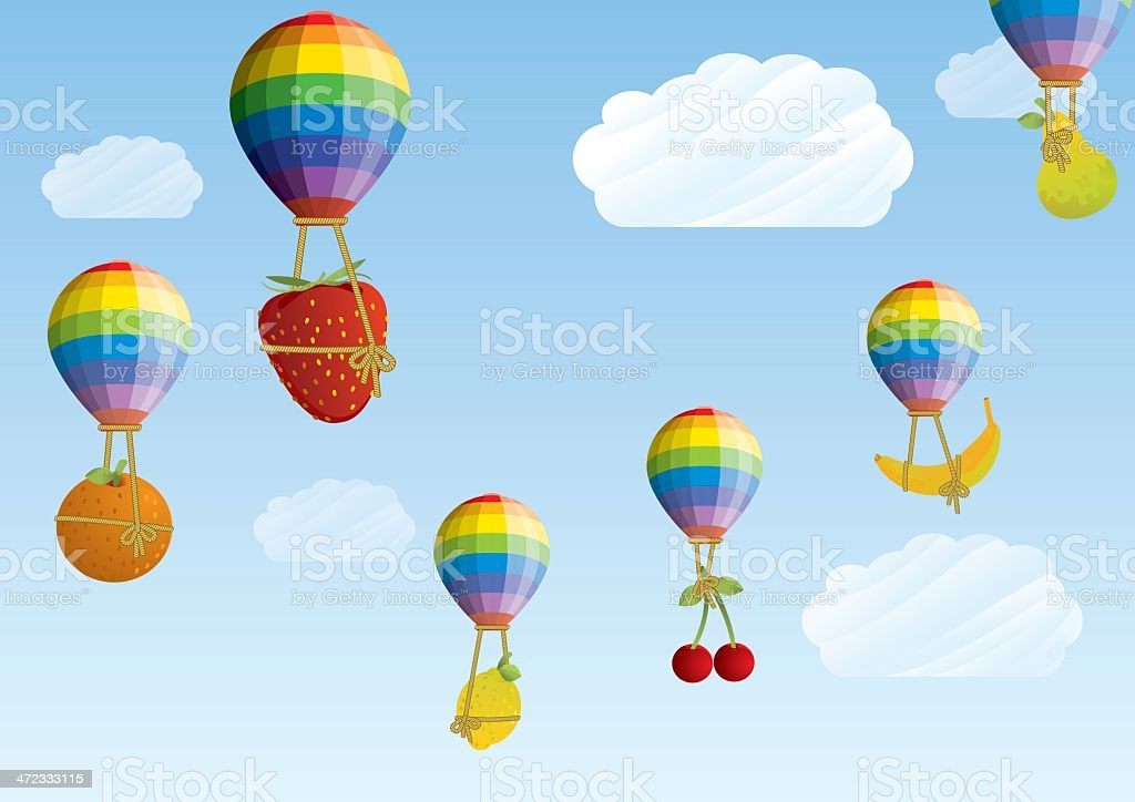 Balloons with Fruit royalty-free stock vector art
