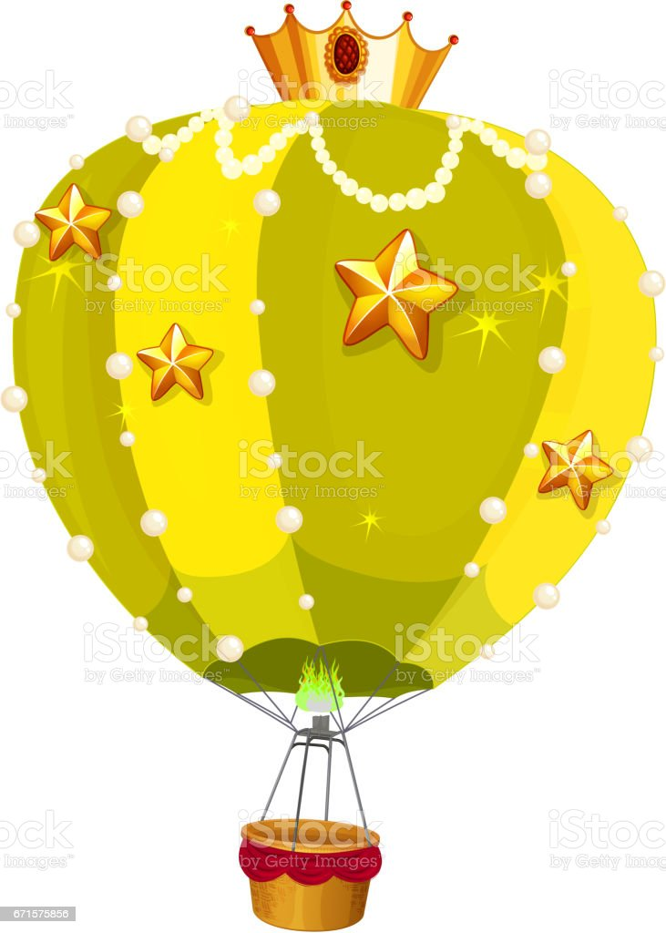 Balloons with golden stars vector art illustration