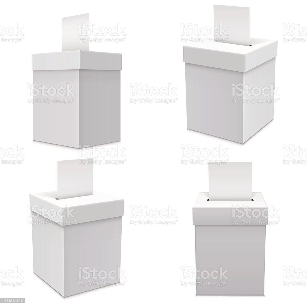 Ballot Box for an election vector art illustration
